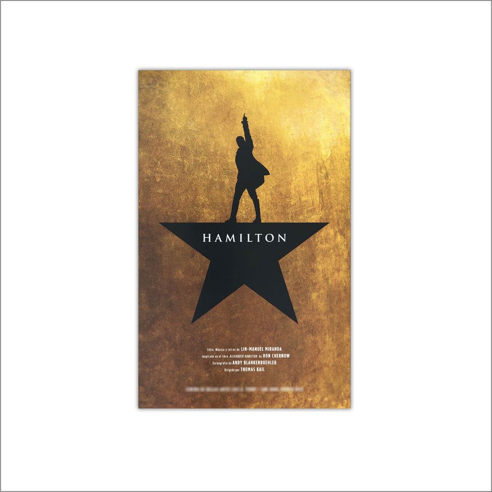 "Hamilton Cities 14""x22"" Window Card from Theaters"