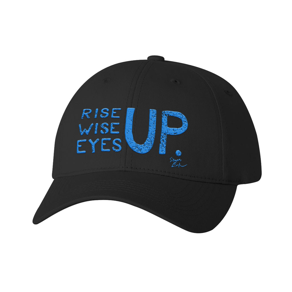 Rise Up, Wise Up, Eyes Up - Electric Blue - Baseball Cap