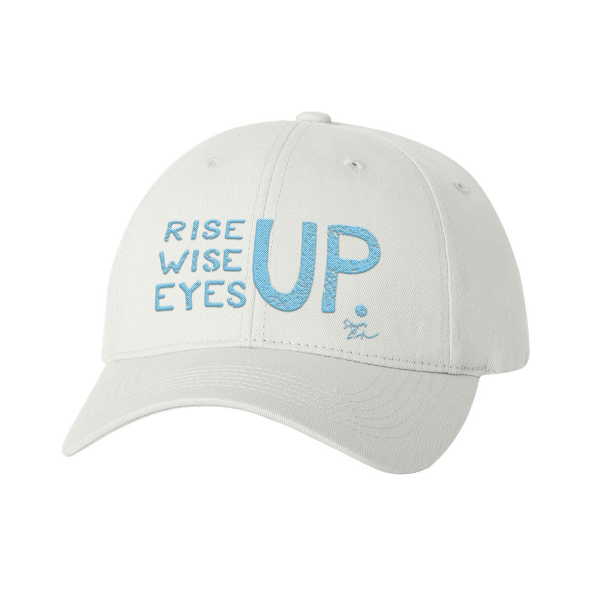 Rise Up, Wise Up, Eyes Up - Light Blue - Baseball Cap