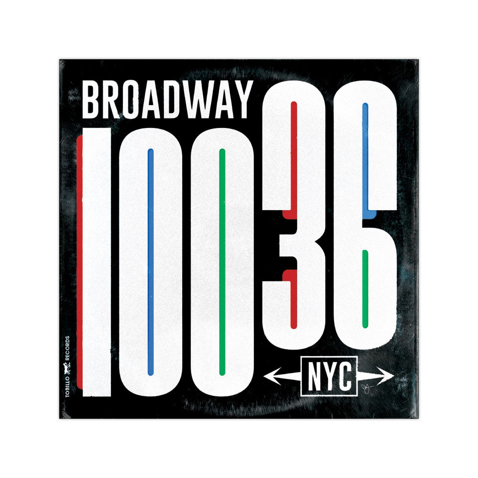 "Broadway Vinyl Sleeve - 4""x4"" Vinyl Sticker - Black"