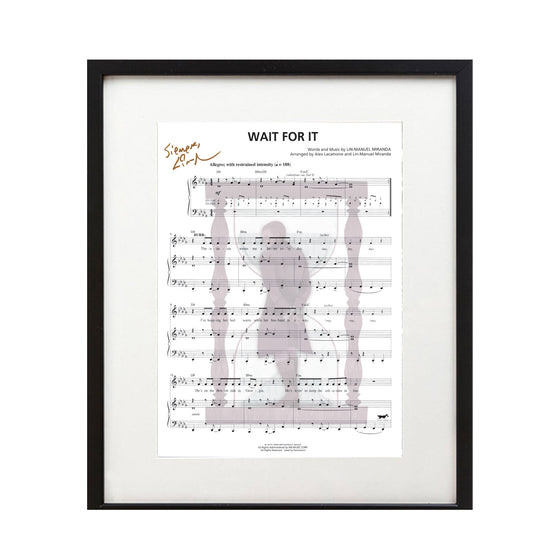 "Hamilton ""Wait For It"" 8X10 Music Sheet - New Item"
