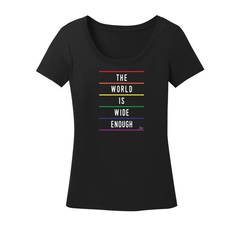 The World is Wide Enough - Ladies Scoop Neck