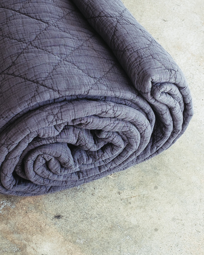STONEWASHED COTTON HUNTINGTON QUILT