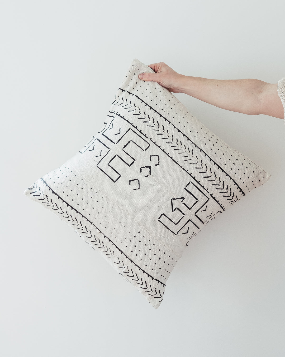 BONE MUDCLOTH PILLOW