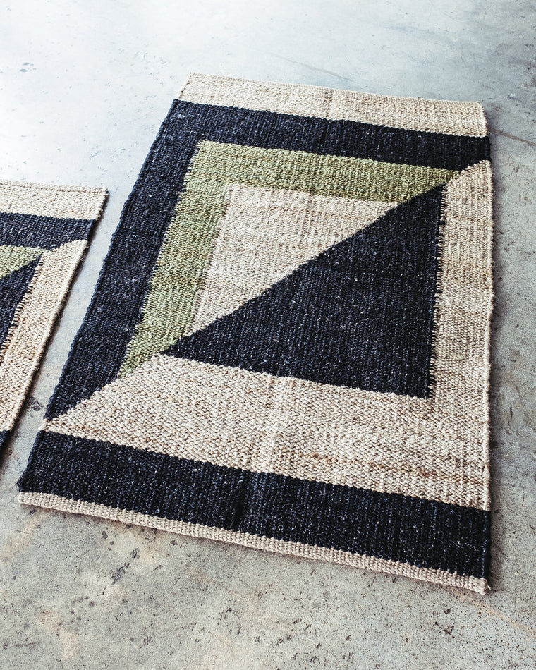 HEMP COLORBLOCK RUG