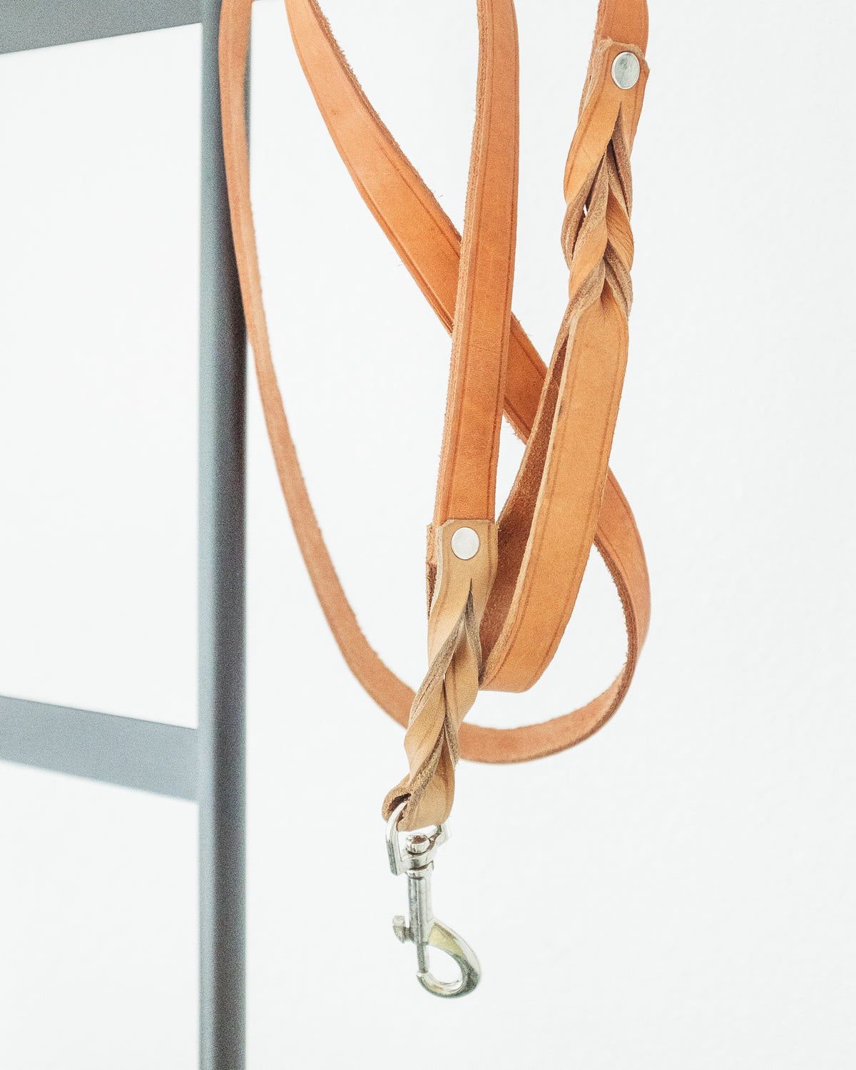 BRAIDED LEATHER DOG LEAD