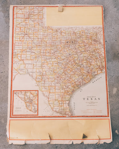 1950 Map of Texas