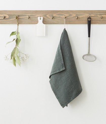 WASHED LINEN KITCHEN TOWEL