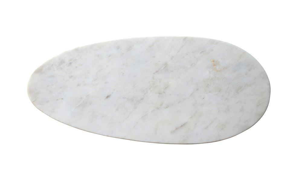 MARBLE OVAL SERVING BOARD