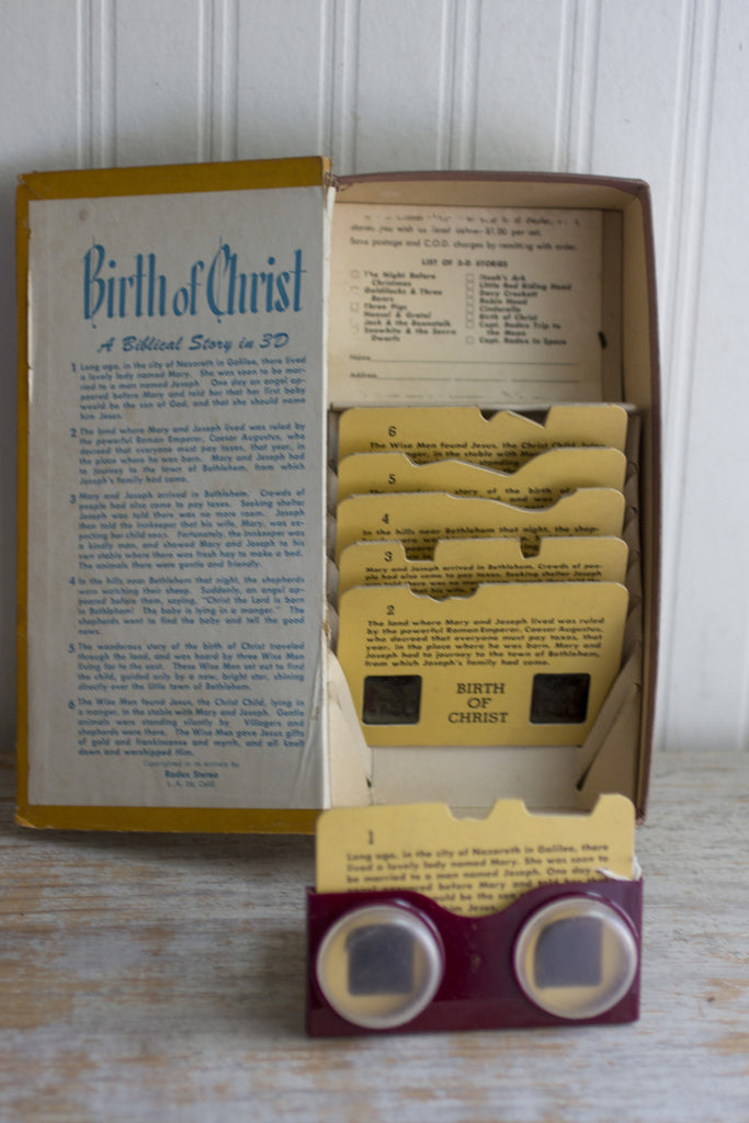 Vintage Birth of Christ - 3D Picture Slides with Viewer - 1950's