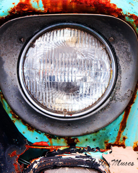 Old GMC Truck Abstract Art Photograph - Rustic Garage