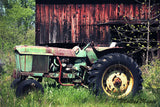 Old John Deere Tractor Photo - Rustic or Country Home - Farm
