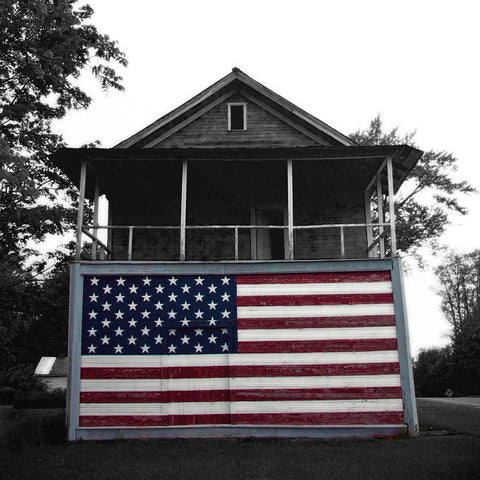American Flag Photography - Primitive Patriotic Home
