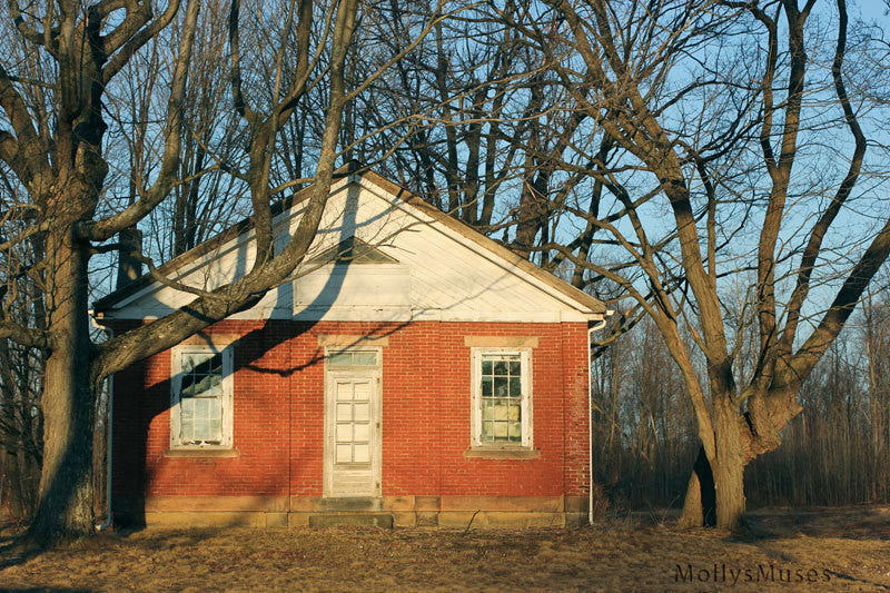 Old One Room School House Photograph - Surreal Historical Pennsylvania