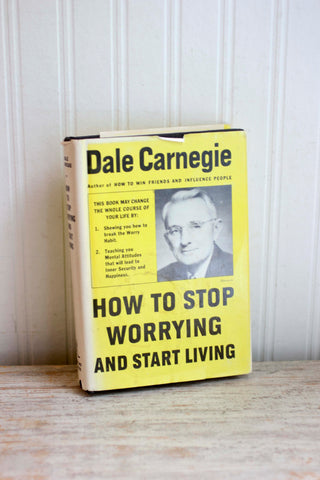 Vintage Self Help Book -  Dale Carnegie How to Stop Worrying