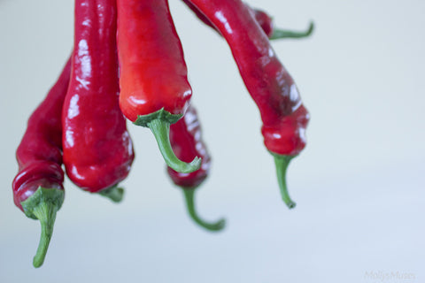 Kitchen Photography - Red Hot Chili Peppers - Whimsical Decor