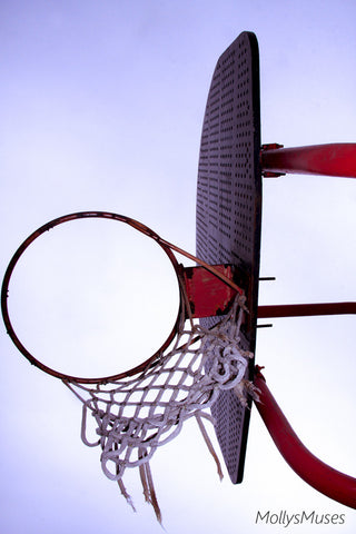 Abstract Photography - Basketball Wall Art - Sports Room Decor