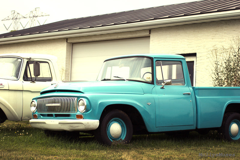Ford International Truck Photo - 1960's Americana Man Cave Decor