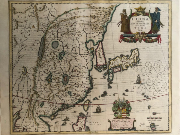 china, japan, , korea, amsterdam, formosa, blaeu, old map, antique map, voc, antieke kaart, oude kaart, map of china, veteribus, sinarum