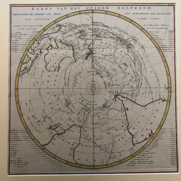 map, old map, travels, cook, james, captain, reizen, engraving, south pole, southern, hemispere, engraving, old map, antique map, baarsel