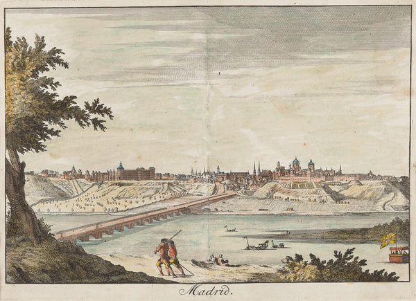 Antieke prent. Antique print. Contemporary handcoloured engraving. Published by Francois Halma in 1705. Spain, Madrid, engraving, antique print, europe