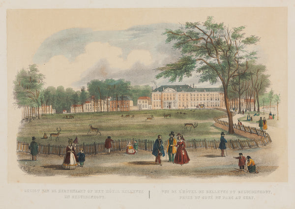 The Hague, Bezuidenhout, Hertenkamp, lithograph, antique print, den haag, antieke prent