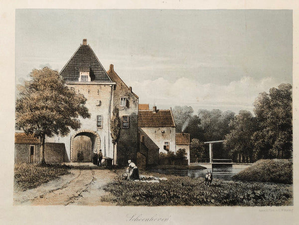 Tinted lithograph by C.W. Mieling from ca. 1855 of Schoonhoven.
