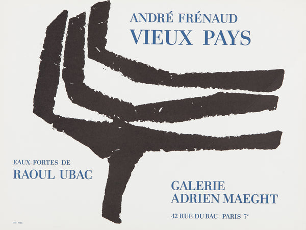 Vieux Pays  Artists: Raoul Ubac and André Frénaud  Medium: Original lithograph