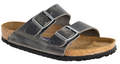 Birkenstock Arizona Soft Footbed Iron Oiled Leather