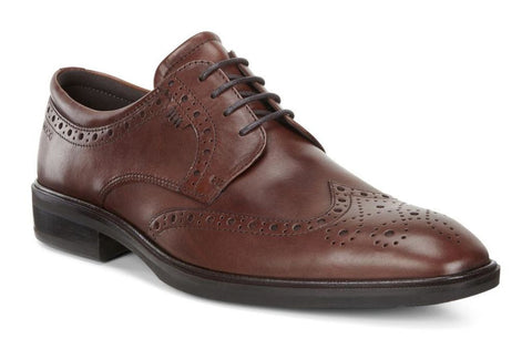 Ecco Men's Illinois Wingtip Lace Cognac