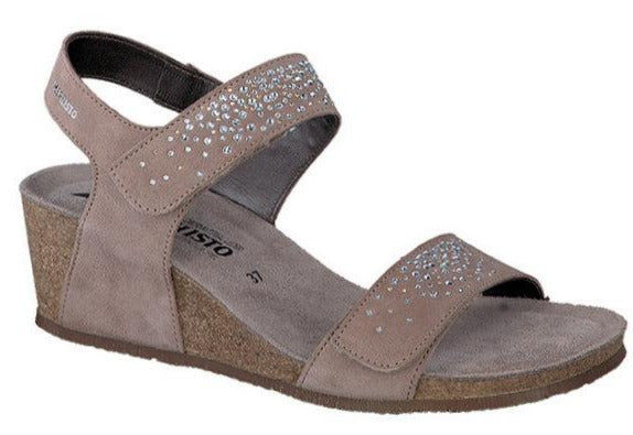 Mephisto Maria Spark Light Taupe Velcalf