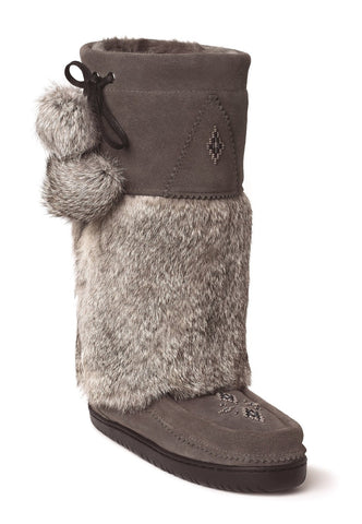 Manitobah Mukluks Snowy Owl Charcoal