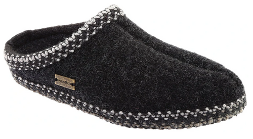 Haflinger AS25 Classic Slipper Charcoal