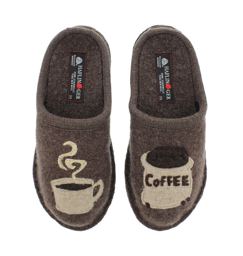 Haflinger slipper coffee