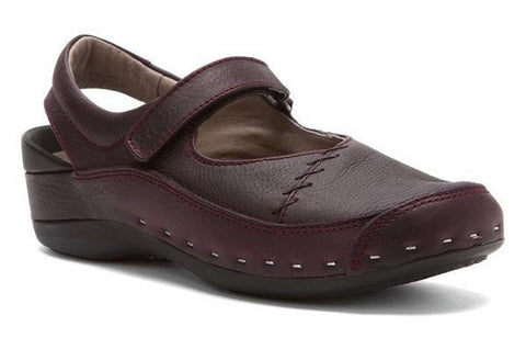 Wolky Strap Cloggy Bordeaux