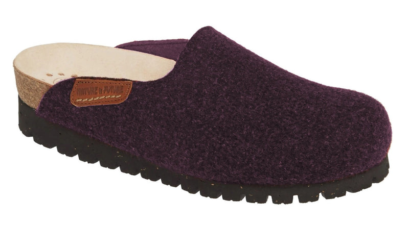 Mephisto Thea Dark Purple/Burgandy Wool Felt