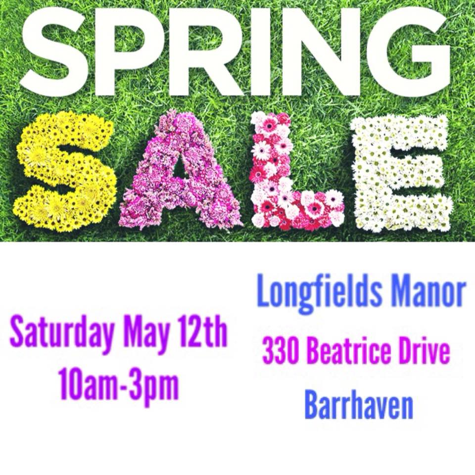 Longfields Manor Spring Sale