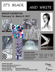 It's Black and White is the name of the current exhibition at the Foyer Gallery.