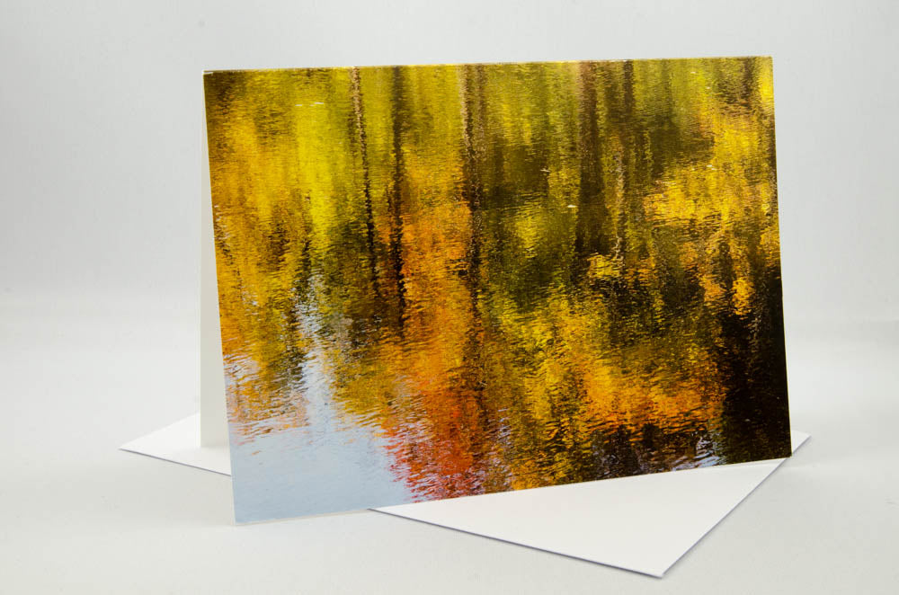 Greeting Card - Beaver Pond Reflections, Gatineau Park, Quebec.