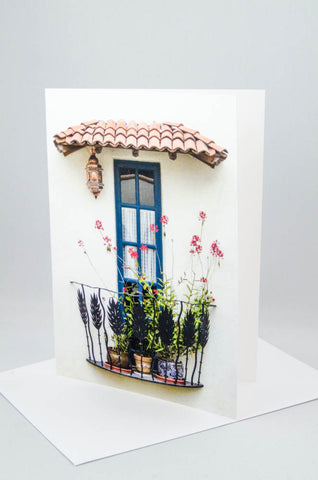 Dainty balcony - Greeting Card.