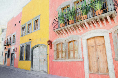 Street in San Miguel de Allende, Mexico - Greeting Card.