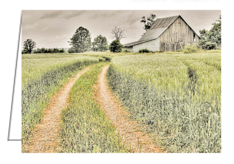 Greeting Card - Farm landscape in the Ottawa Valley, along Diamondview Road between Carp and Kinburn, Ontario.