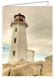 Greeting Card - The lighthouse at Peggy's Cove, Nova Scotia, Canada.