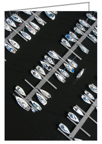 Parking Yacht - Aerial view of sailboats at Nepean Sailing Club at Dick Bell Park in Ottawa, Ontario, Canada.