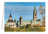Greeting card from an autumn photograph of Parliament Hill in Ottawa, Ontario, Canada.