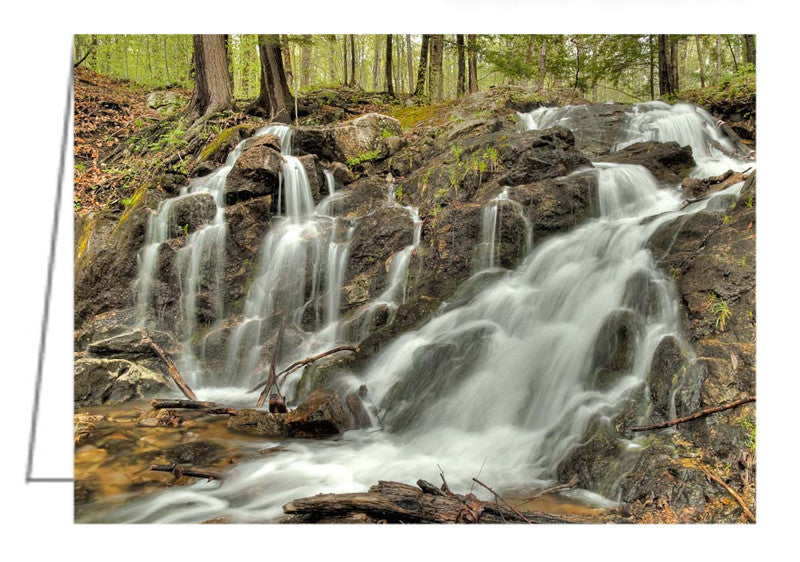 Greeting Card of the waterfalls at Mackenzie King Estate in Gatineau Park, Quebec.