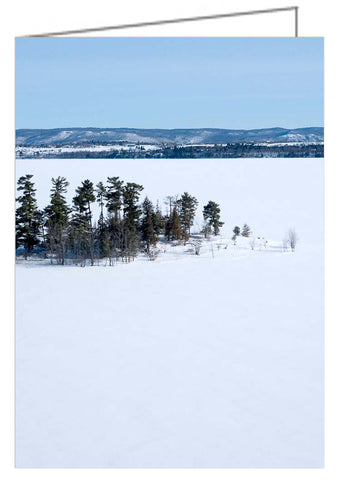 Greeting card showing an aerial photograph. Pinhey's Point Heritage Property and Public Park on the Ottawa River.