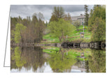 Greeting card of the reflections of Pinhey's Point Heritage Property and Park in the bay.