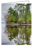 Greeting card showing a serene landscape at Pinhey's Point, Ontario. Pinhey's Point is just outside of Ottawa, Ontario nearby the village of Dunrobin, Ontario.