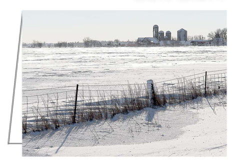 A photo greeting card of a winter landscape in the Ottawa Valley.